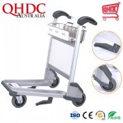 3 Wheels Airline Carts Airport Passenger Baggage Cargo Trolleys with Hand Brake