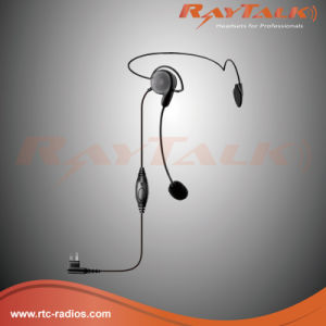 Behind The Head Headset with Left Earphone and Boom Microphone pictures & photos