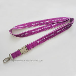 Double-Layer Woven Lanyards with Jacquard Logo pictures & photos