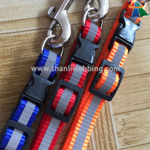 Hot-Sale High-Quality Solid Color 15mm Polyester/Nylon Leash & Adjustable Collar with Reflective Strip pictures & photos