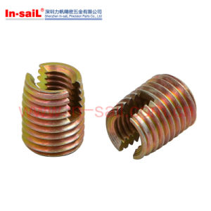 China Hot Sale Supplier Steel Zinc Ensat Threaded Insert Manufacturer pictures & photos