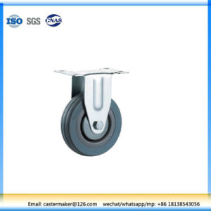 Rubber Fixed Rubber Furniture Caster pictures & photos