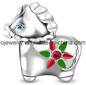 Real Silver Material Jewelry Skull Bead pictures & photos