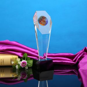 Cylinder Crystal Glass Award&Trophy for Craft pictures & photos