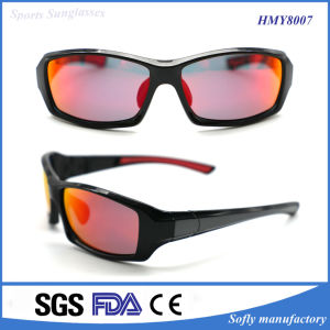 Handsome Plastic Sports Sunglasses with Polarized Lens