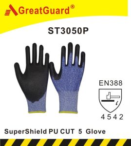 Supershield PU Cut 5 Glove (ST3050P) pictures & photos