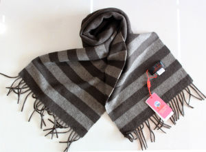 100% Yak Wool Knitted Striped / Cashmere /Wool /Yak Scarves/Textile/Fabric pictures & photos