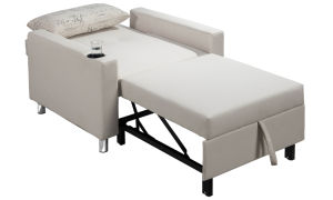 PU Single Sofa Bed with a Cup Support Function pictures & photos