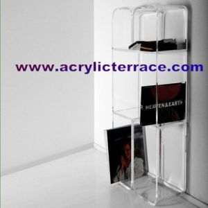 Acrylic Floor Shelf Stand (5FS440013)