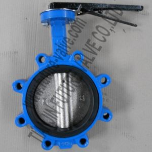 Dn150 Cast Iron Lug Butterfly Valve with EPDM Seat (D71X-16)
