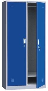 Two Door Metal Locker, Two Compartment Steel Locker
