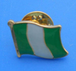 Nigeria Flag Gold Pin Badge National Flag Lapel Pin Brooch pictures & photos