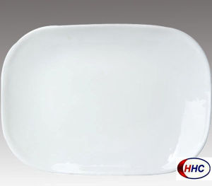Opal Glassware Rectangular Plate 14′′
