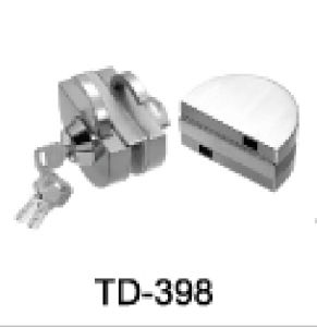 High Quality Stainless Steel Glass Door Lock/ Td-398 pictures & photos
