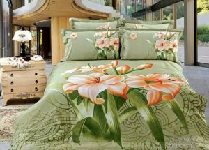 Printed Light Green Bed Sheet