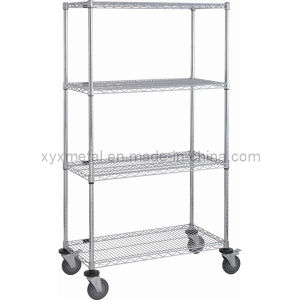 Chrome Steel with Heavy Duty Nylon Castor Wire Shelving pictures & photos