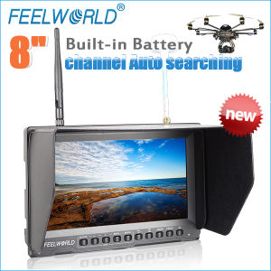 New Feelworld 8 Inch Fpv Monitor Dji Phantom 2 Vision with Dual 5.8GHz 32CH Receivers