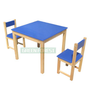 Blue Oak Wood Children Dining Table (GF-004)