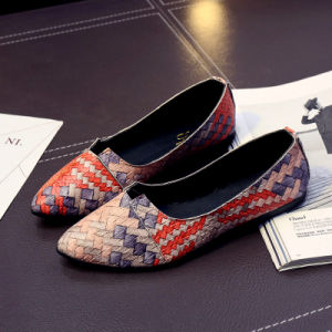 New Arrival Spring Lovely Solid Women Flats Shoes Single Boat Shoes Woman Causal Loafers pictures & photos