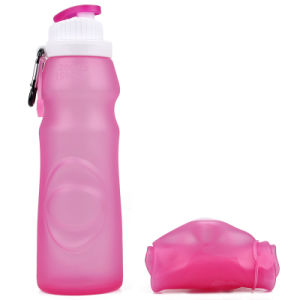 b9b4df301bdc 550ml Non-Toxic Leakproof Portable Soft Silicone Travel Water Bottle