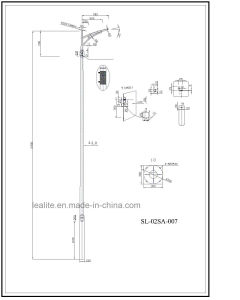 Lighting Pole Galvanized Lighting Pole pictures & photos