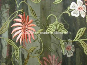 Allover Embroidered Organza Fabrics pictures & photos