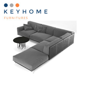 2018 Modern Design Leather Sofa Fabric Sofa with Chaise