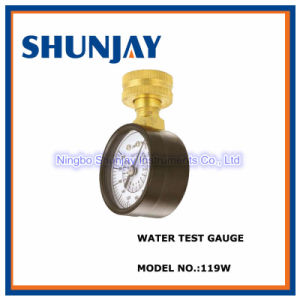 "Black Steel Case Water Test Pressure Gauge with 3/4""Nh Mount"