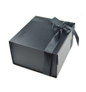 China Foldable Package Box Black Gift Box Paper Gift Box China