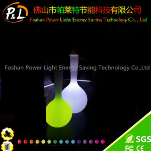 New Design Garden Furniture LED Plastic Glowing Flower Pot pictures & photos