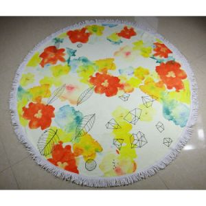 Latest Microfiber Round Beach Towel with Tassels