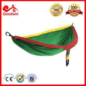 China Portable Folding Camping Hammock Made From Parachute Nylon