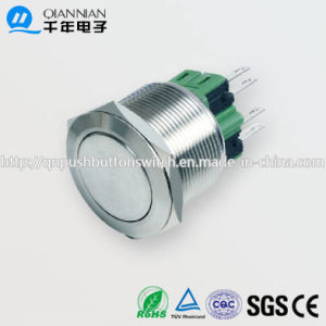 25mm 1no Nc/2no 2nc Resetable Self-Locking Flat Ringilluminated IP67 Ik10 Push Button Switch pictures & photos