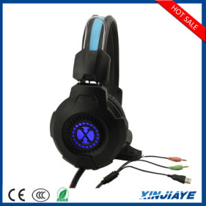 Factory Price 3.5mm LED Glowing Stereo Gaming Headset with Mic for PC Gamer pictures & photos