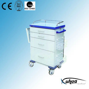 Epoxy Coated Steel Hospital Medical Resuscitation Trolley/ Cart (N-20) pictures & photos