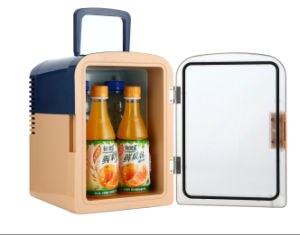 Transparent Door Electronic Cooler 6 Liter DC12V, AC100-240V for Car or Home Use pictures & photos