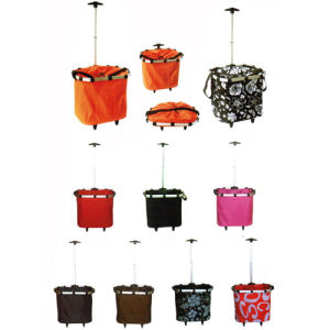 Factory Direct Sell Fabric Shopping Baskets with Wheels (SP-325) pictures & photos