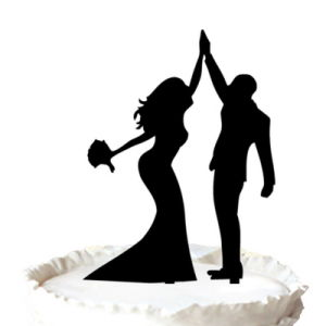 wedding cake toppers high five china and groom high five silhouette wedding cake 26493