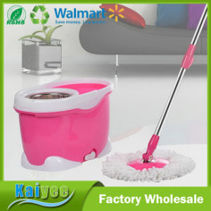 Purple Floor Cleaning Dust Spin Magic Mop with Bucket pictures & photos