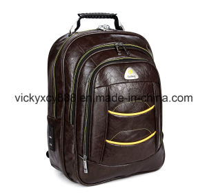 PU Double Shoulder Business Travelling Leisure Laptop Bag Backpack (CY3330) pictures & photos