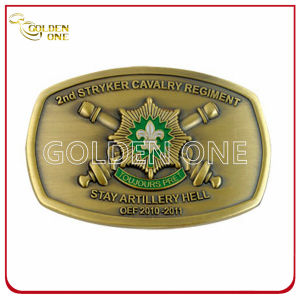 High Quality Antique 3D Soft Enamel Metal Belt Buckle pictures & photos