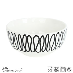 14cm Porcelain Rice Bowl with Geometrical Decal Design pictures & photos