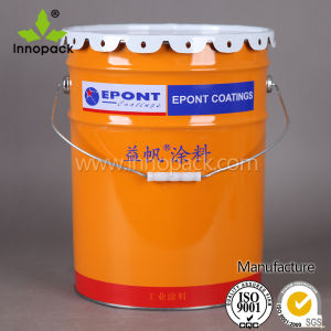 Custom Printed Un Rate Metal Paint Bucket Pail with Seal Lid and Handle pictures & photos