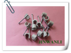 Plastic Nylon PE Round Nail Cable Clip with Nails pictures & photos