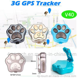 3G/WiFi Waterproof Mini GPS Pet Tracker with Collar V40 pictures & photos