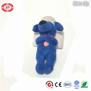 Barking Dog Blue Cute Plush Soft Toy with White Pillow pictures & photos