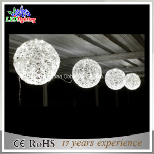 Led Ball String Lights Outdoor Decoration White Christmas