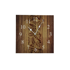 China Competitive Wooden Wall Watch With Leaf Design China Led Clock And Watch Price