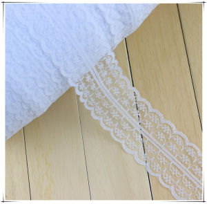 4.5 Cm White Embroidery Mesh Lace Trim for Underwear