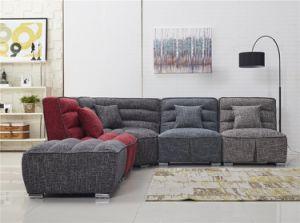 Free Combination For Elegant Fabric Sofa Set With Ottoman